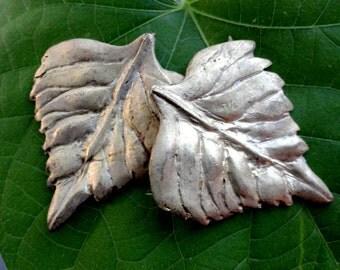 Handmade Aspen Leaf (2 pc)