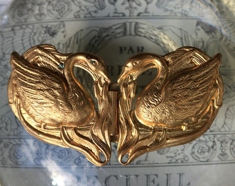 Art Nouveau Swan Buckle (1 set )