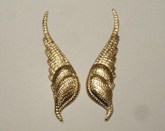 """Art Nouveau Angel's Wings (5"""" long, 1 pair)"""