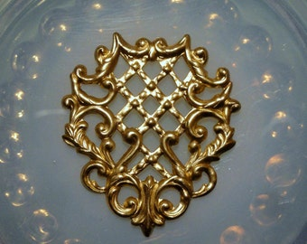 Pierced Floral Shield with Lattice (2 pc)