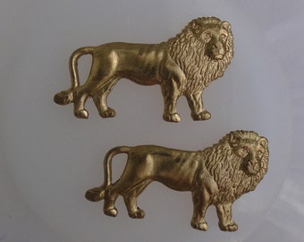 Miniature Lion Stamping (2 pc)
