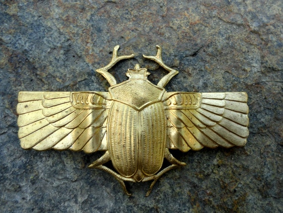Large Winged Scarab Beetle Band (1 pc)