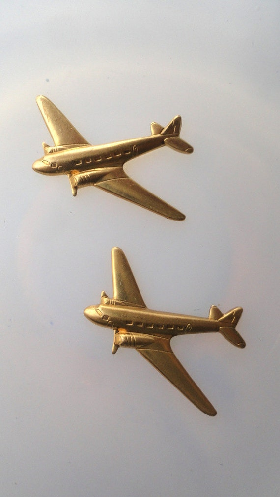 Vintage Jet Airplane (2 pc)