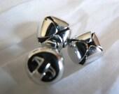Bright Silver 100 Jingle Bells 10mm metal
