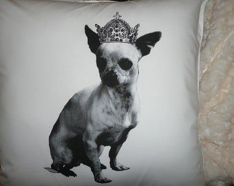 The Royal One Chihuahua Pillow Cover