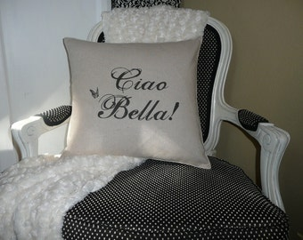 Ciao Bella Pillow Cover