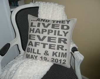 Happy Couple Pillow Cover-Personalized At No Extra Cost