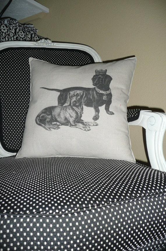 The Royal Couple Daschund Pillow Cover