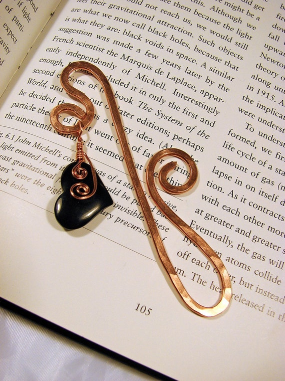 Copper and Black Horn Bookmark