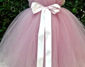 Mauve and Light Pink Tutu Dress From FabTutus - All Sizes, Lengths and Other Color Combinations Available