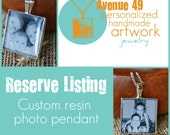 Reserve Listing - 2 small photo charms- for Agnes