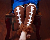 Football Leg Warmers Leggings with Ruffled Ankles