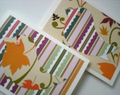 Handmade Notecards Set of 2 Woodland Chick Bird Forest Friend Hand Cut Paper