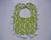 Baby Bib - Sound of Music - Green Damask