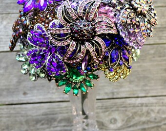 Color Specific Wedding Brooch Bouquet - Made to Order