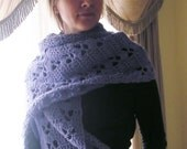 Stole Crocheted in Lavender