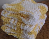 Cotton Washcloths Set of 3 in Yellow and Cream