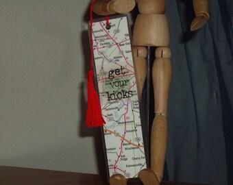 Get your kicks Bookmark - Road Map Bookmark - Travel Bookmark - Rute 66 Bookmark - Travel bookmark - Map Bookmark - Travel