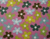 01851 - Anna Maria Horner Chocolate Lollipop  Flowers in Mauve- 1 yard