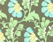 00904 Amy Butler Daisy Chain - Sweet Jasmine in Forest color - 1 yard