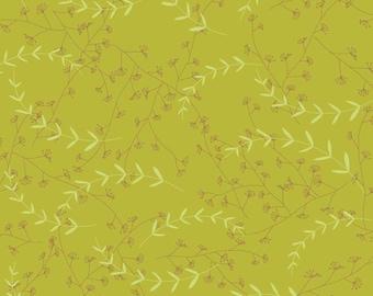 04128  SALE Deena Rutter for Riley Blake Love Birds C7095 Leaves in Green- 1  yard