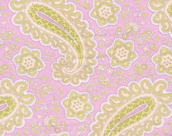 01572 Free Spirit Annette Tatum Fall House 2009 Collection Paisley in Rose color- 1 yard