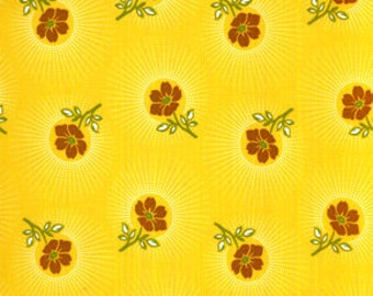 "00397  Joel Dewberry Deer Valley Floral drop in goldenrod color-last 26"" short yard"