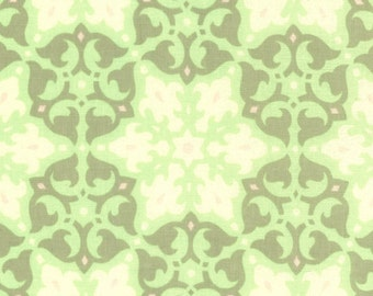 00937  Amy Butler Daisy Chain Mosaic in Kiwi  color - 1 yard