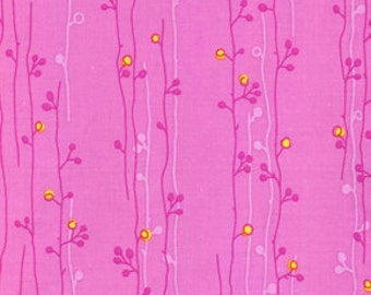 01833 Erin McMorris Wildwood Sprout in Fuchsia - 1 yard