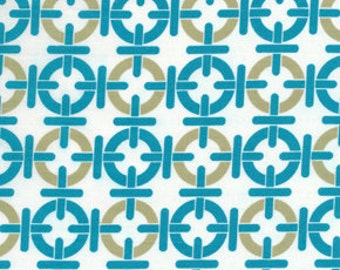 01606   Free Spirit Annette Tatum Mod Collection Chain Link in Teal color- 1 yard