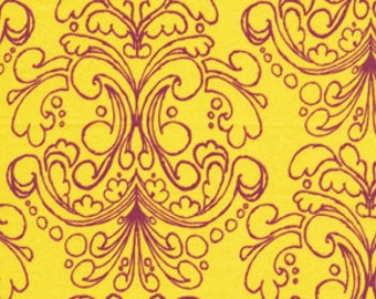 72004  Free Spirit Tina Givens Havens Edge Petticoat  in Yellow color- 1 yard