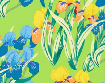 09701 - Jill Gordon for Kaffe Fassett New Beginnings Iris in Green color- 1 yard