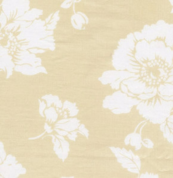 01570 Free Spirit Annette Tatum Fall House 2009 Collection Bloom in Ochre color- 1 yard