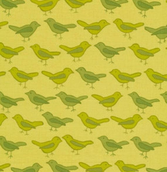 For Heather -  01934  Free Spirit Valori Wells Nest Birds in Sage color - 1 yard
