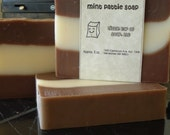 Mint Pattie Soap 3 Bars with a Free Soap Saver