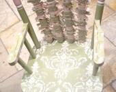 Sage Damask Rag child's  Rocking Chair