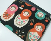 Ipad case, ipad cover- zippered and padded - Matryoshkas
