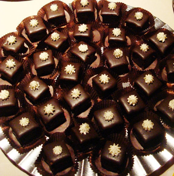 Gluten Free Petit Fours - chocolate ganache covered / variety of flavors available