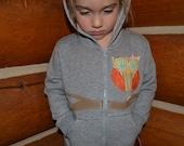 Hooty Hoot- Owl Hoodie Child