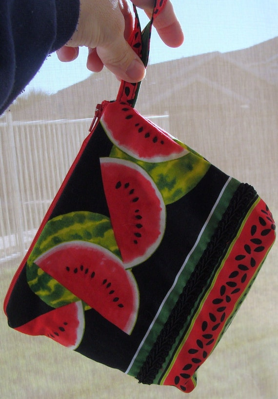 Watermelon - zippered pouch