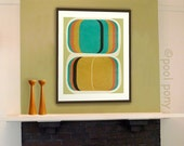 go set, mid century design art print, by pool pony,  NEW EXTRA LARGE A2 size
