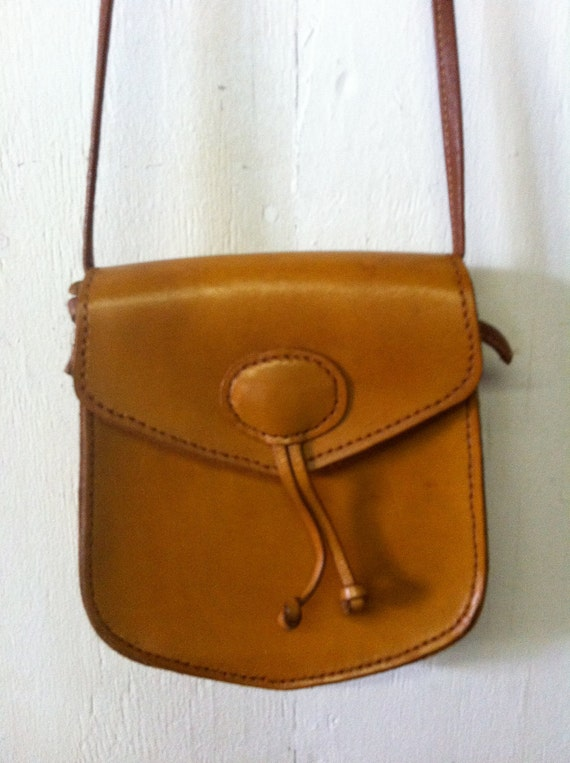 Vintage Women's Leather Small Leather Purse 1970's 1980's
