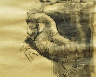 Reared up Stallion Sketch 142