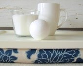 Laptop Lap Desk or Breakfast serving Tray - White with Blue- Custom Order