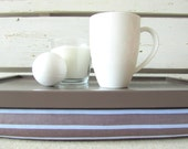 Laptop Lap Desk or Breakfast Serving tray- Brown and Blue Striped- Custom Order