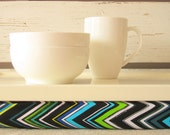 Chevron Zig Zag Laptop Lap Desk or Breakfast serving Tray - Custom Order