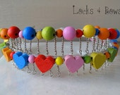 Girls wire headband colorful beaded childrens hair accessories