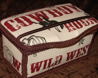 Wild West Large Diaper Wipes Tub