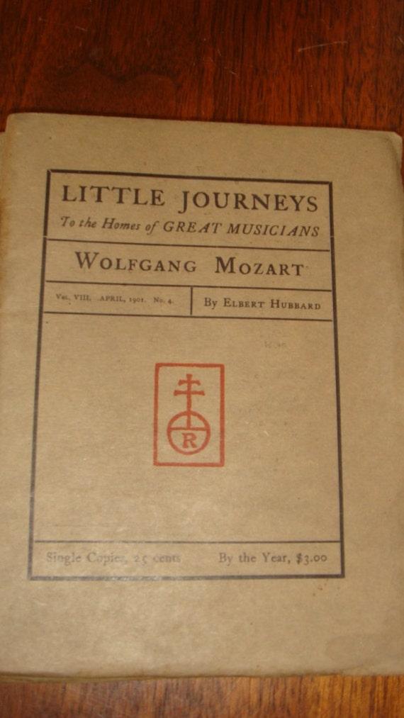 Antique Arts & Crafts Roycroft Little Journeys 1901 Issue Wolfgang Mozart