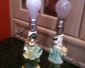 Cute chinoiserie lamps boy girl vintage